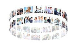 Business collage. Made of some business pictures Royalty Free Stock Photos