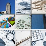 Business collage of some business pictures Stock Image
