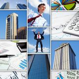Business collage of some business pictures Stock Images