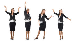 Business collage of a young businesswoman Stock Photography