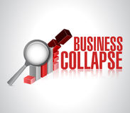 Business collapse sign illustration design Stock Photography