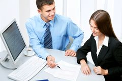 Business colleague royalty free stock images