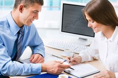 Business colleague royalty free stock image