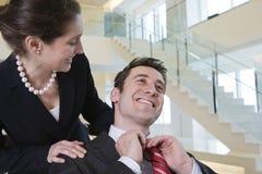 Business colleague getting congratulated. Stock Photos