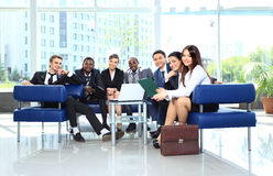 Business colleague in a meeting together at office Stock Photo