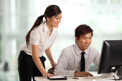 Business colleague's working together Royalty Free Stock Image