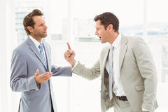 Business colleagues in argument at office royalty free stock photography