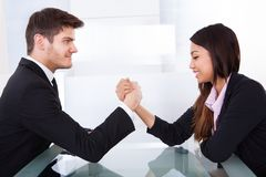 Free Business Colleagues Arm Wrestling Stock Photography - 39829962
