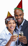 Business colleagues celebrating with champagne Royalty Free Stock Photo
