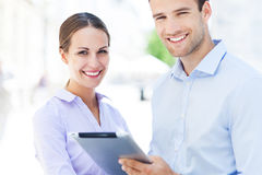 Business colleagues with digital tablet Royalty Free Stock Photo