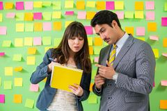 The business colleagues discussing future priorities Royalty Free Stock Photography