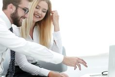 Business colleagues discussing new ideas in the office Royalty Free Stock Image