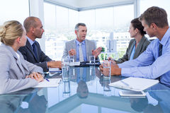 Business colleagues discussing about work Royalty Free Stock Photography