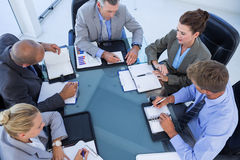 Business colleagues discussing about work Royalty Free Stock Images