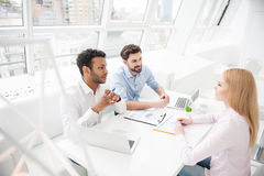Business colleagues discussing work Royalty Free Stock Photography