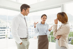 Business colleagues in discussion at office Royalty Free Stock Photography