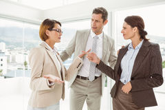 Business colleagues in discussion at office Royalty Free Stock Image