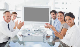 Business colleagues giving applause Royalty Free Stock Photography