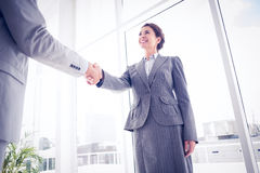 Business colleagues greeting each other Stock Photos
