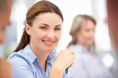 Business Colleagues in Group Discussion Stock Images