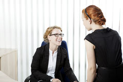 Business colleagues having a chat Stock Image