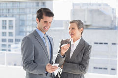 Business colleagues having conversation Royalty Free Stock Photos