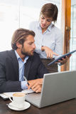 Business colleagues having a meeting Stock Photos