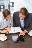 Business colleagues having a meeting Royalty Free Stock Image