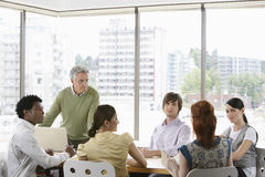 Business Colleagues At Meeting Stock Image