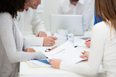 Business colleagues in a meeting Royalty Free Stock Image
