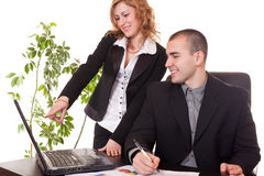 Business colleagues in office Royalty Free Stock Photo
