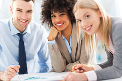 Business colleagues. Business people meeting at table royalty free stock photo