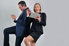 Business colleagues playing video games Royalty Free Stock Photography
