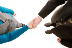 Business colleagues shaking hands Royalty Free Stock Photo