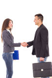 Business colleagues shaking hands Royalty Free Stock Images