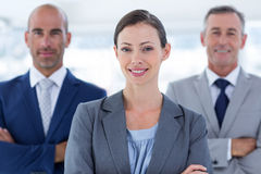 Business colleagues smiling at camera Royalty Free Stock Photos