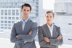 Business colleagues smiling at camera Royalty Free Stock Photography