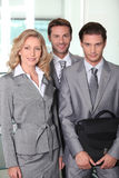 Business colleagues smiling Royalty Free Stock Image