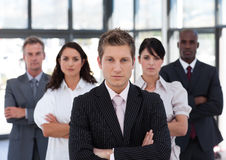 Business colleagues standing in a row Stock Photo
