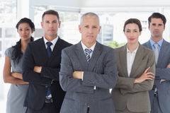 Business colleagues standing in a row Royalty Free Stock Images
