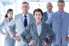 Business colleagues standing in a row Stock Photos