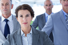 Business colleagues standing in a row Stock Photography
