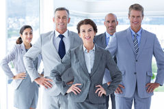 Business colleagues standing in a row Royalty Free Stock Photos