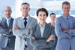 Business colleagues standing in a row Royalty Free Stock Image