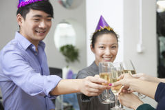 Business Colleagues Toasting With Champagne Stock Photography