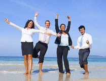 Business Colleagues Vacation Leisure Team Concept Royalty Free Stock Photography