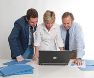 Business colleagues watching laptop Royalty Free Stock Photo