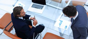 Business colleagues in office Royalty Free Stock Images
