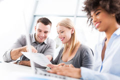Business colleagues working in office Stock Images