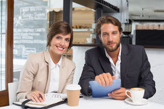 Business colleagues working on their break Stock Images